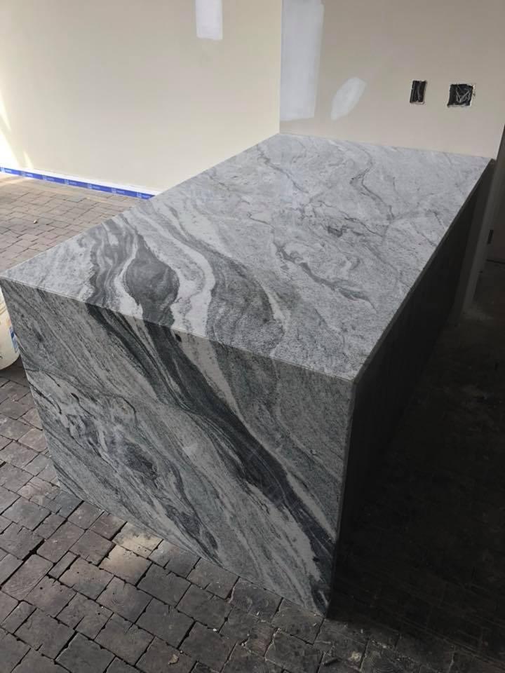 Waterfall Edge Installation Gallery Granite Works Of Pa